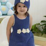 Crochet Darling One-Piece Romper & HatSet Free Crochet Pattern