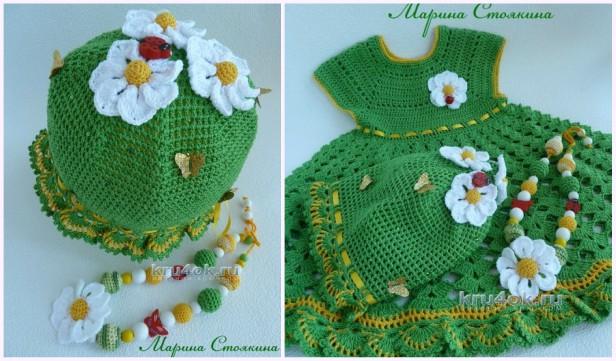 Girls Summer Dress & Hat Set Crochet Free Patterns