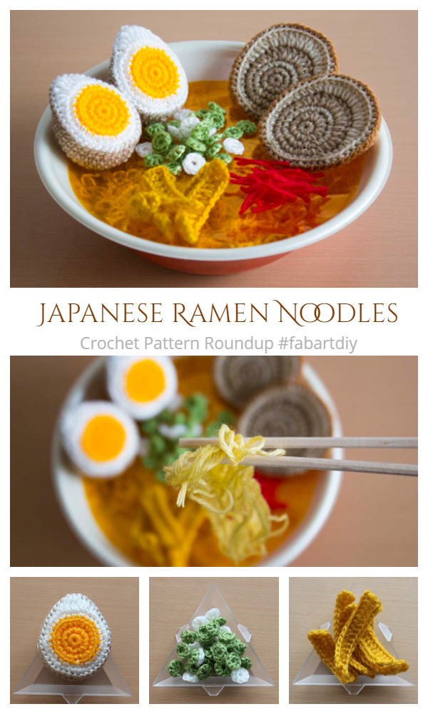 Crochet Japanese Ramen Noodles Amigurumi Free Pattern Look So Real