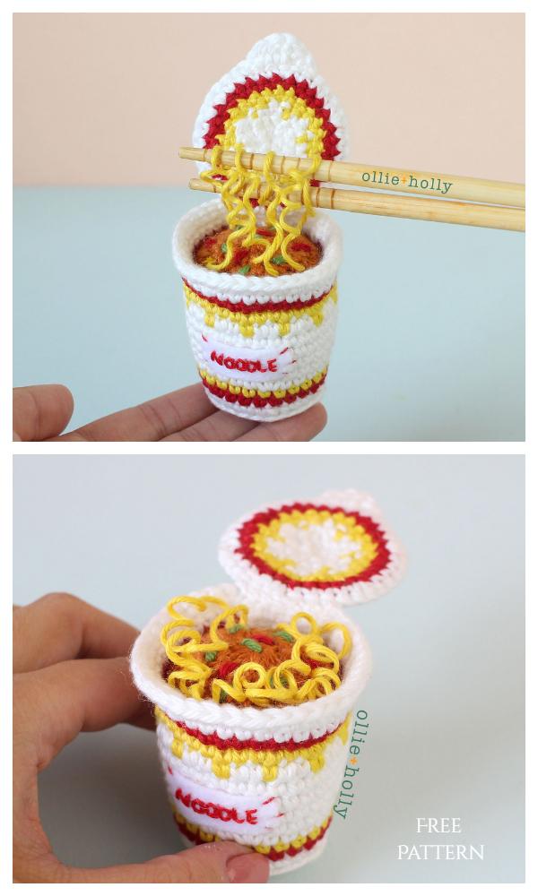Crochet Ramen Noodles Amigurumi Free Pattern