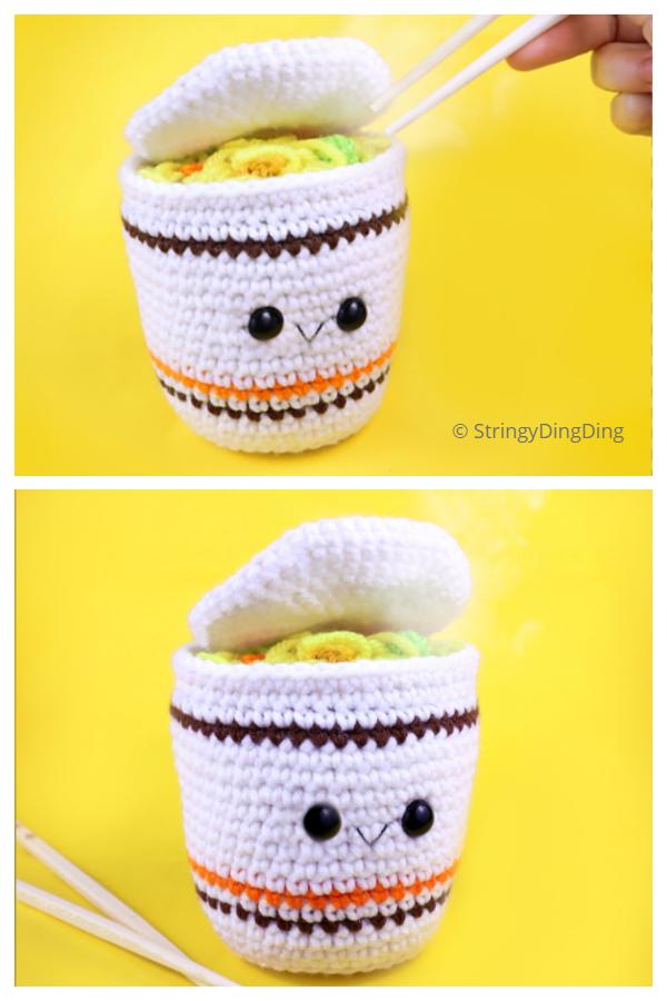 Crochet Cup Ramen Amigurumi Free Patterns