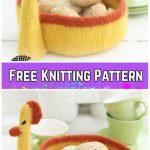 Knit Felted Easter Basket Free Knitting Patterns