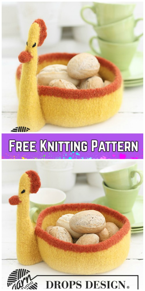 Knit Felted Easter Basket Free Knitting Patterns