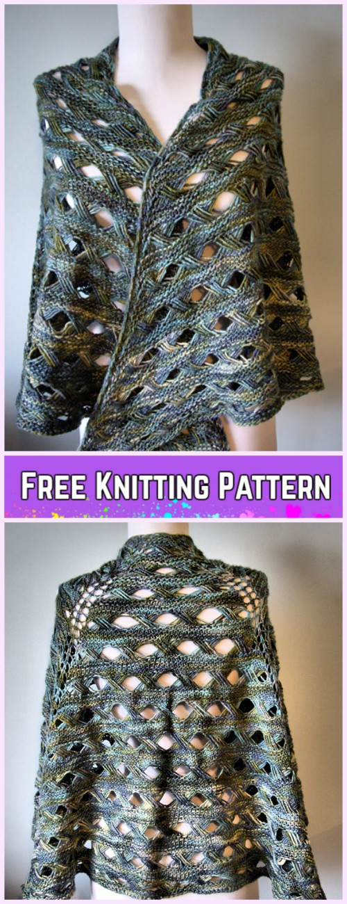 Knit Maja Shawl Free Knitting Pattern