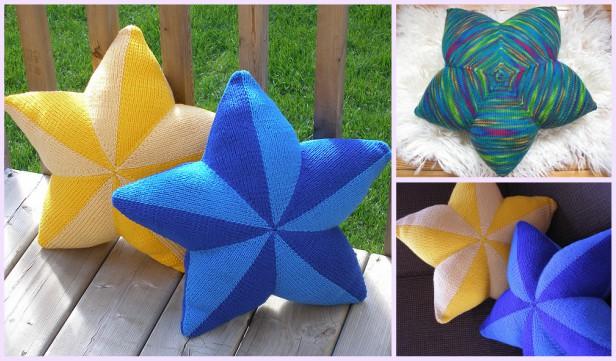 Knit Star Pillow Free Knitting Patterns