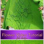 Knit Sylvi Flower Cardigan Coat Knitting Pattern with Video Tutorial