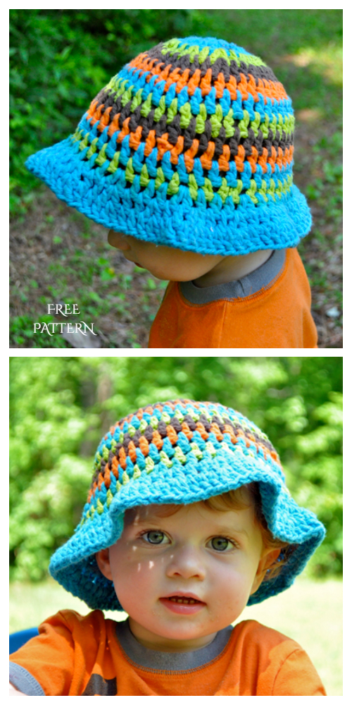Baby Summer Sun Hat Free Crochet Patterns