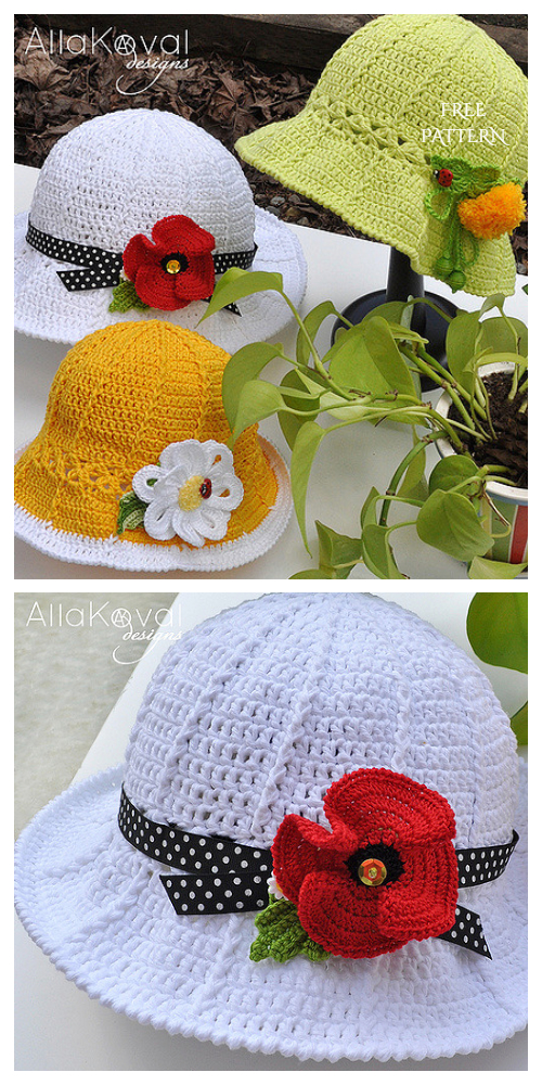 Garden Party Hat Free  Crochet Pattern
