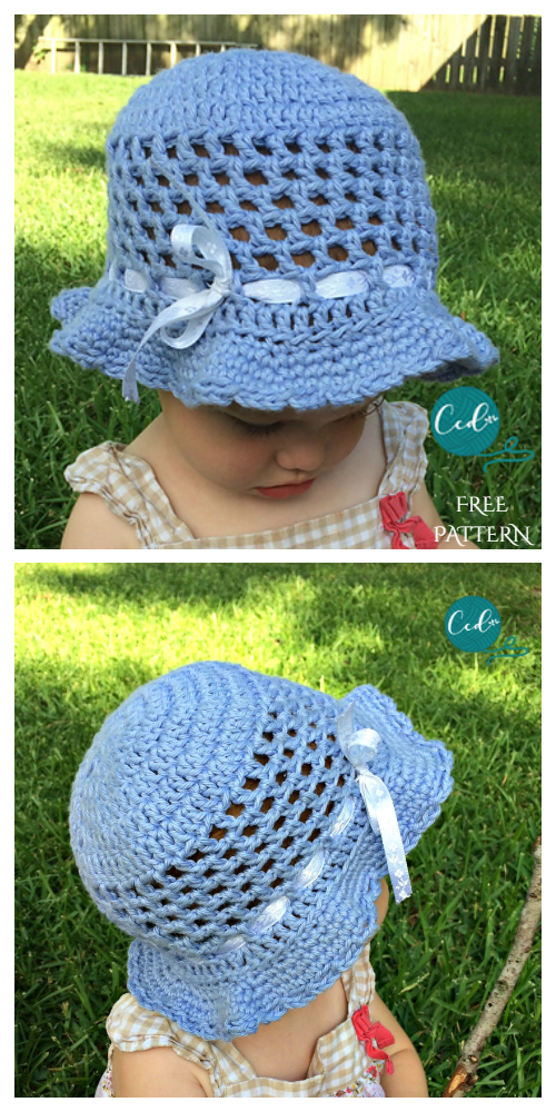 Toddler Sun Hat Free Crochet Pattern