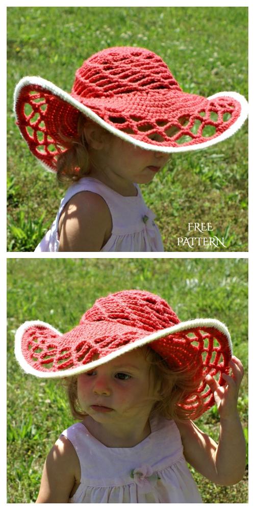 Crochet Belmont Sun Hat Free Pattern