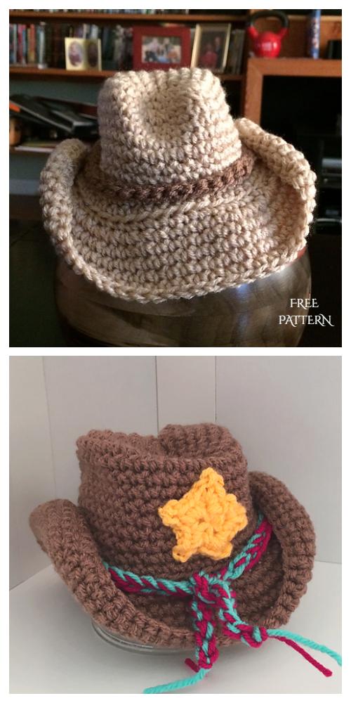 Baby Cowboy Sun Hat Free Crochet Pattern