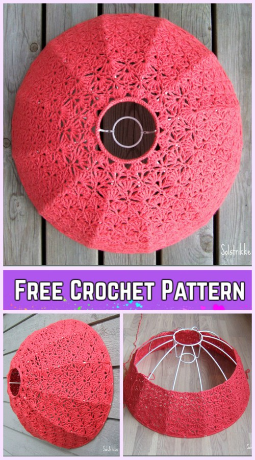 Crochet Shell Stitch Lamp Shade Free Pattern