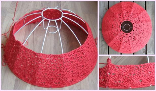 Crochet Shell Stitch Lamp Shade Free Pattern