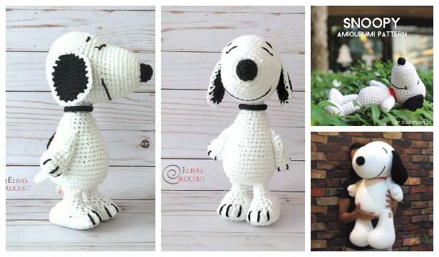 Crochet Snoopy Toys Amigurumi Free Patterns & Paid