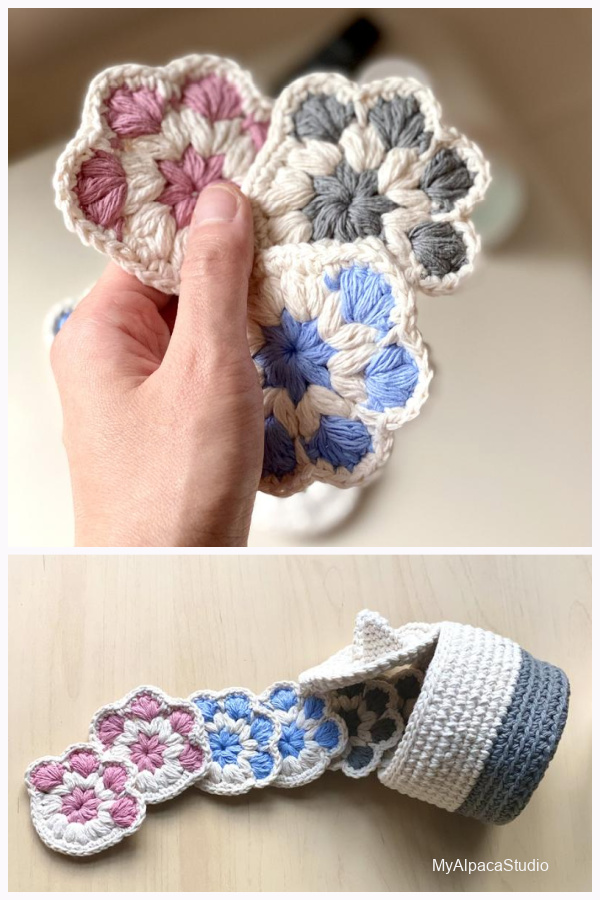 Cat Paw Face Scubbies Crochet Patterns