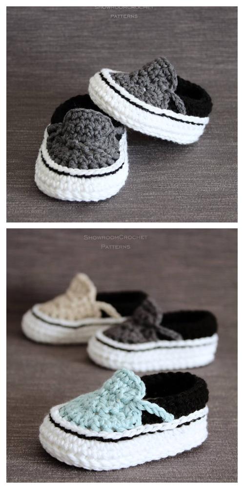 Crochet Vans Style Baby Sneakers Crochet Pattern