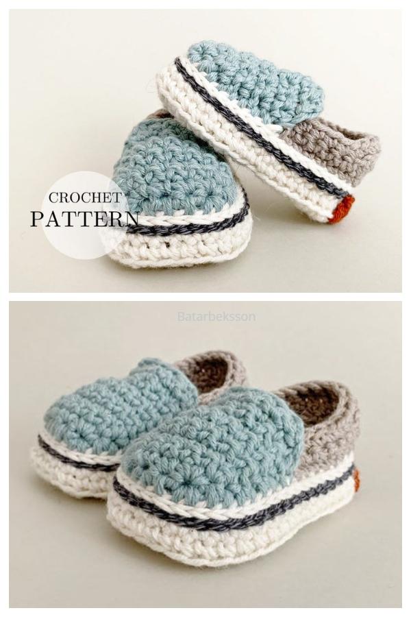 Crochet Summer Baby Sneakers Crochet Pattern