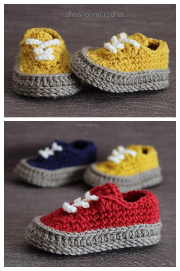 Crochet Classic Baby Sneakers Crochet Pattern