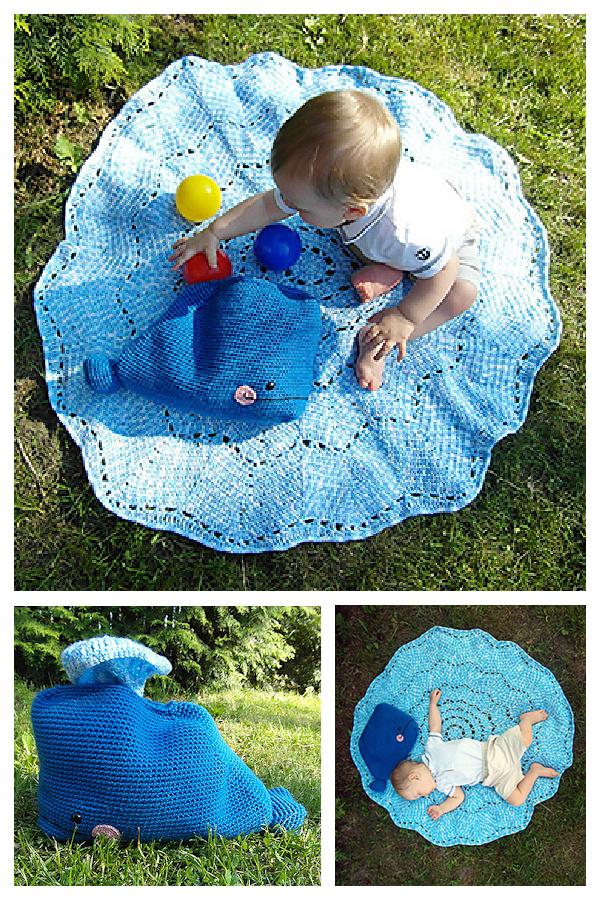 Crochet Willy the Whale Splish-Splash Blanket Free Crochet Pattern