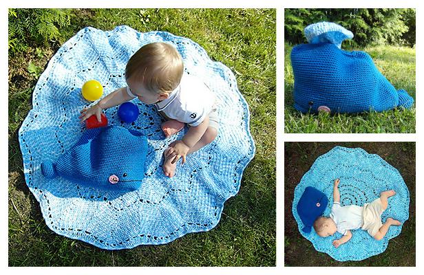Willy the Whale Splish-Splash Blanket Free Crochet Pattern ft