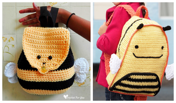 Bumble Bee Backpack Free Crochet Patterns for Kids
