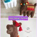 Crochet Llama Animal Toy Softies Amigurumi Free Pattern