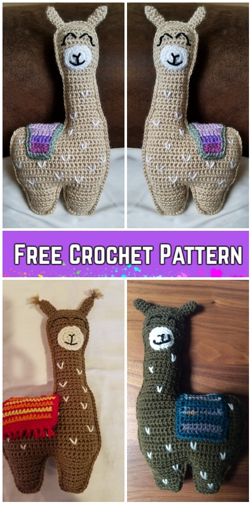 Crochet Llama Animal Toy Softies Amigurumi Free Patterns