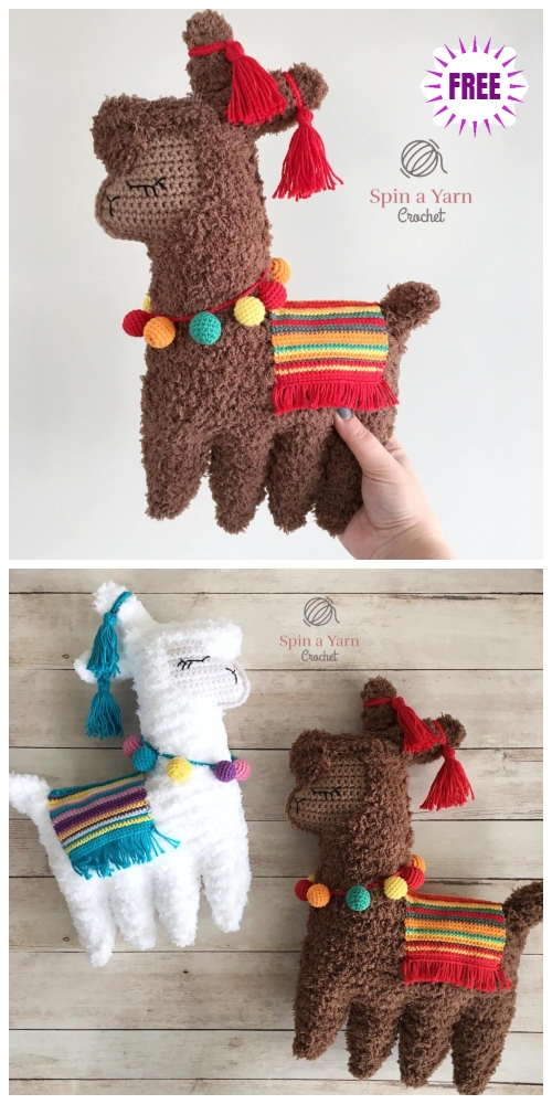 Crochet Ragdoll Llama Animal Toy Softies Amigurumi Free Patterns