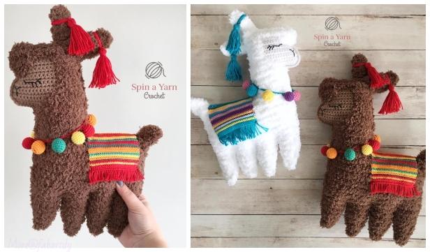 Crochet Ragdoll Llama Animal Toy Softies Amigurumi Free Patterns