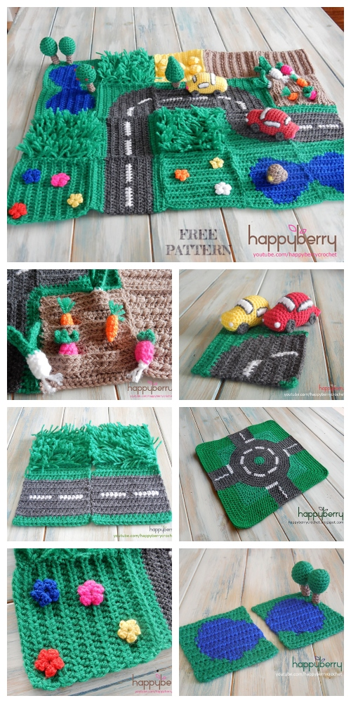 Crochet Road Play Mat Free Patterns