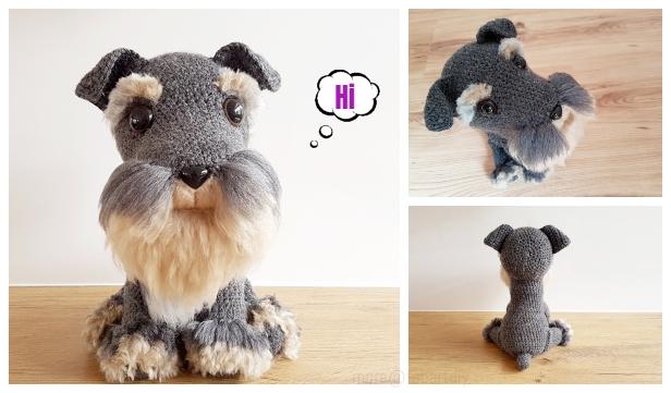 Dollhouse mini crochet puppy - Crochet stuffed animal | Stuffed ... | 361x616