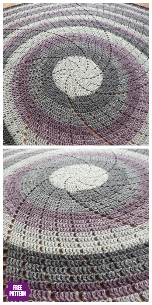Crochet Spin Me Around Blanket Free Crochet Pattern