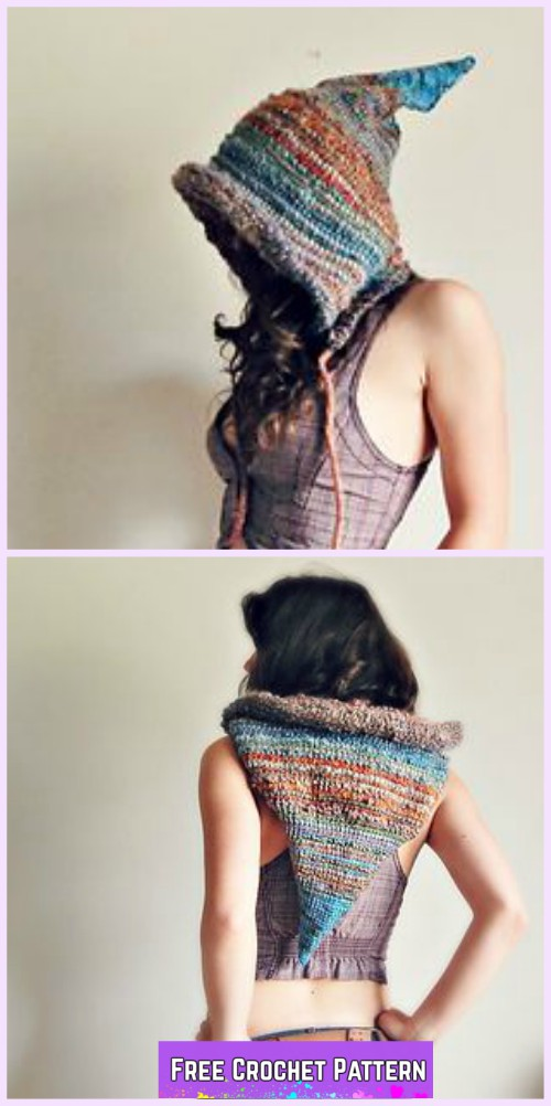 Crochet Tunisian Fantasy Hood Free Crochet Pattern