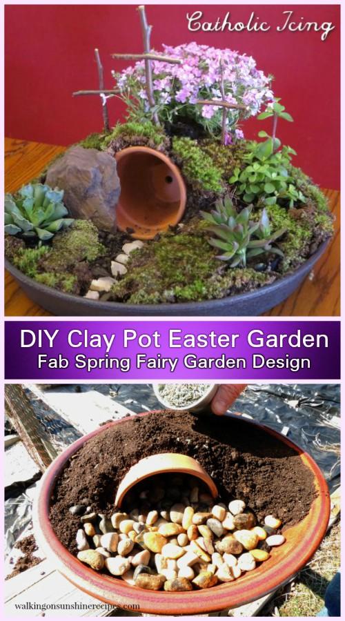DIY Clay Pot Easter Resurrection Garden Tutorial