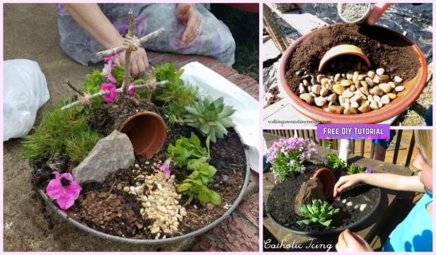DIY Clay Pot Easter Garden Tutorial