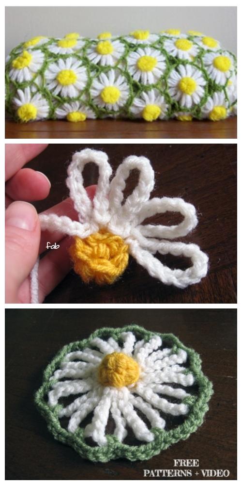 Crochet Easy Daisy Flower Blanket Free Crochet Pattern + Video