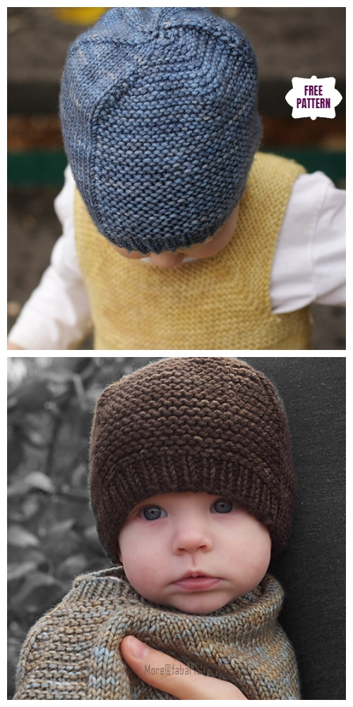 Knit Barley Beanie Hat Free Knitting Pattern - All Sizes