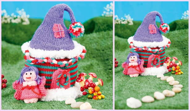 Knit Fairy House Free Knitting Pattern