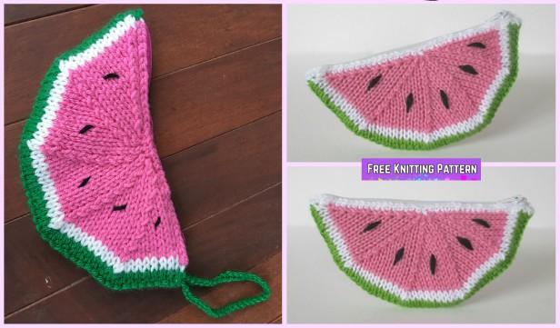 Knit Watermelon Purse Free Knitting Pattern