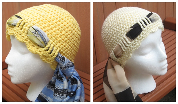 Crochet Tie Scarf Hat Free Crochet Pattern & Paid