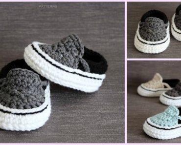 Vans Style Baby Sneakers Crochet Pattern 07db6a5f4