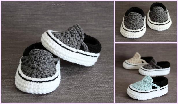 Vans Style Baby Sneakers Crochet Pattern