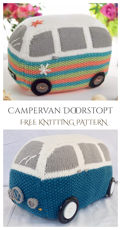 Campervan Doorstop Free Knitting Pattern