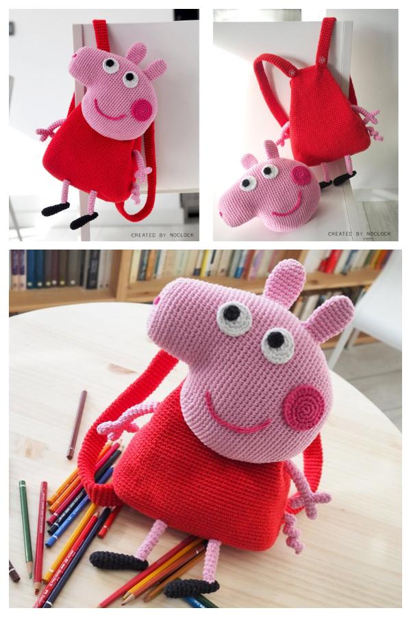 PEPPA PIG Backpack Crochet Pattern