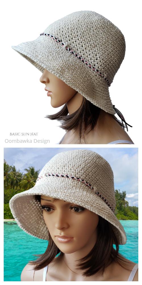 Basic Sun Hat Crochet Free Pattern