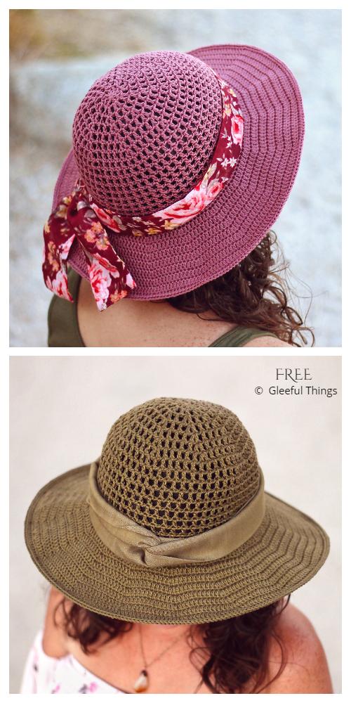 Wide Brim Desert Sun Hat Free Crochet Pattern