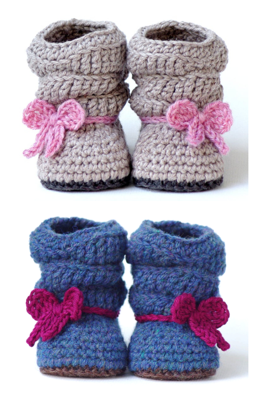 Mia Slouch Baby Boots Crochet Patterns