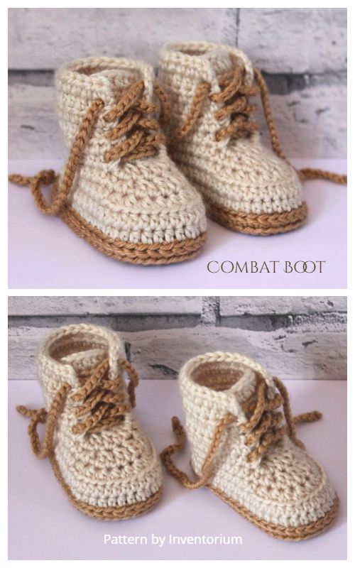 Combat Baby Boots Crochet Patterns