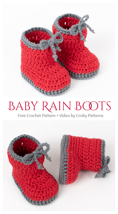 Baby Rain Boots Free Crochet Patterns