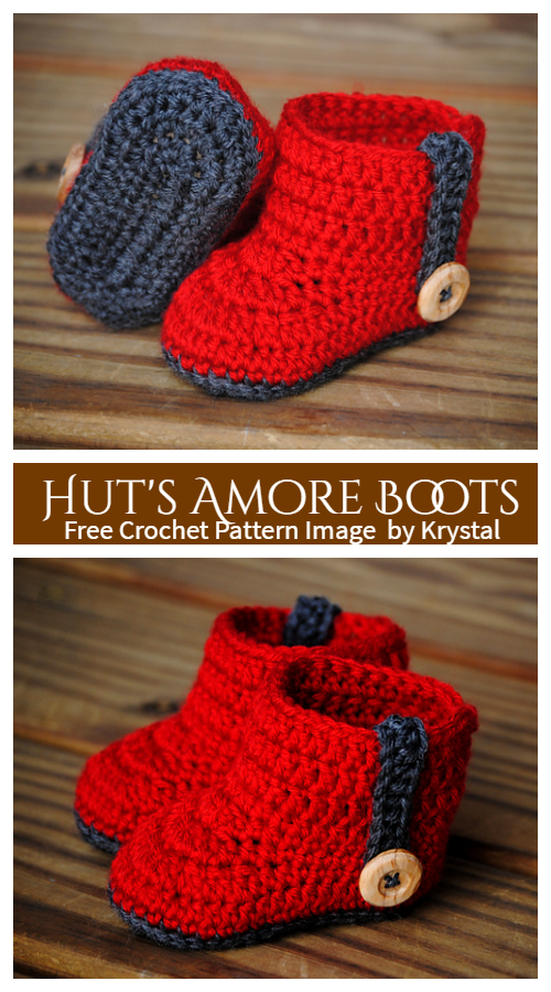 Hut's Amore Baby Ankle Boots Free Crochet Patterns